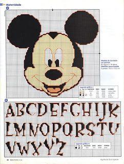 MÁS PUNTO DE CRUZ: abecedarios--check out the pinner's board for lots of cartoon characters