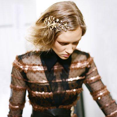 I think hair jewellery will be big this fall! Love the Rodarte star hair piece! via @MarieClaire