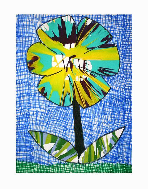 Spin art flower