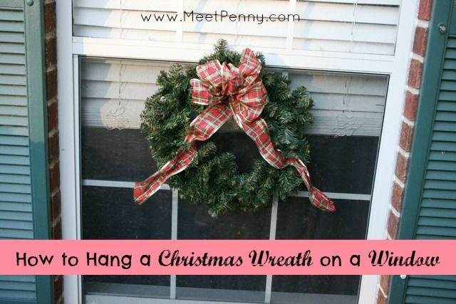 how to hang a christmas wreath on a window how to hang places and the o 39 jays. Black Bedroom Furniture Sets. Home Design Ideas