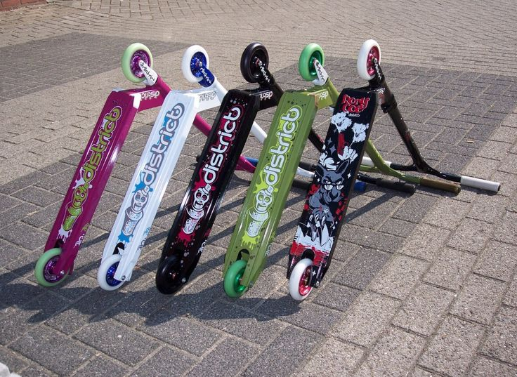 5 different district scooters