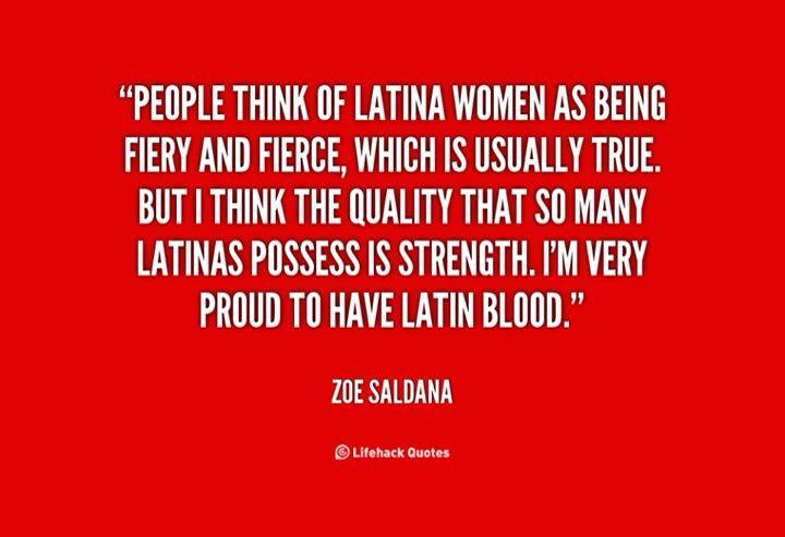 Proud to be a Latin women. Orgullosa de ser Hispana