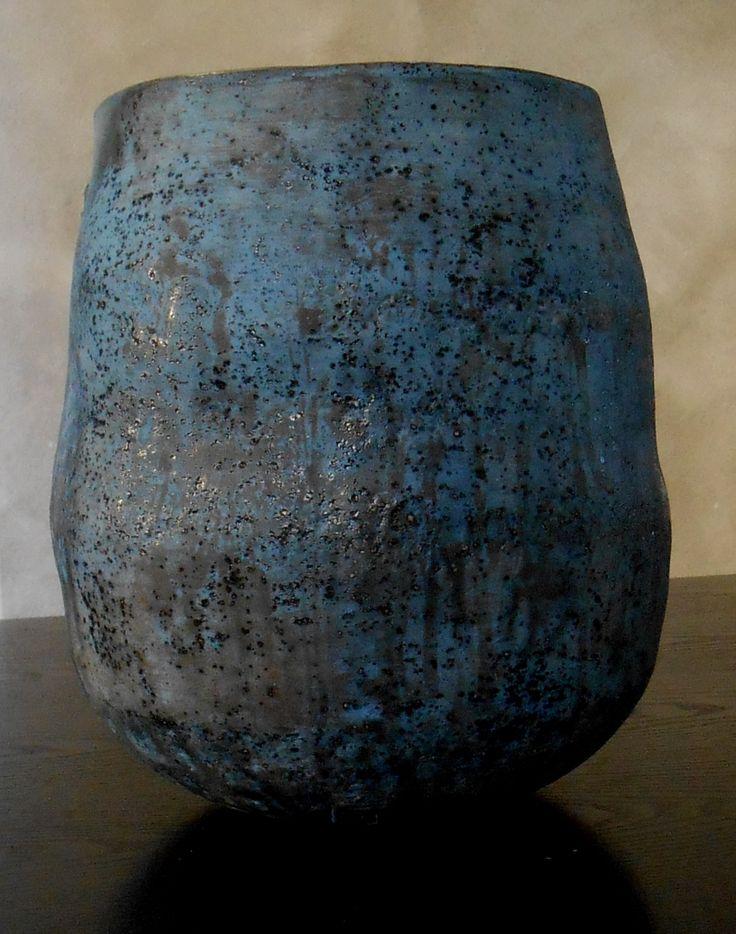 vaso blu nuovi colori, Stefano  Toniolo ceramica organica.
