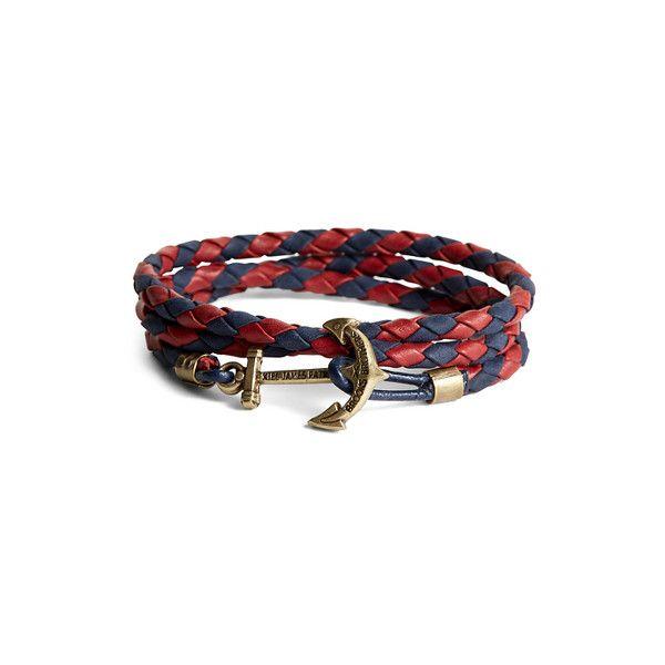 Brooks Brothers Kiel James Patrick Leather Wrap Bracelet ($58) ❤ liked on Polyvore featuring men's fashion, men's jewelry, men's bracelets, mens woven bracelets, mens leather bracelets, mens woven leather bracelets and mens leather braided bracelets
