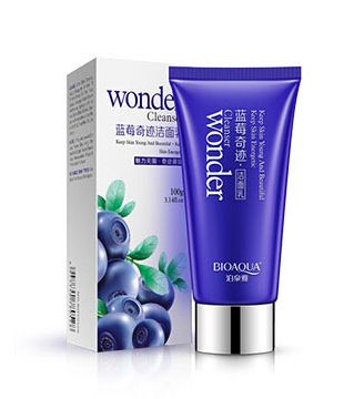Blueberry miracle cleanser hydrating deep pore cleansing oil control acne removing cleanser face washing product SFC008