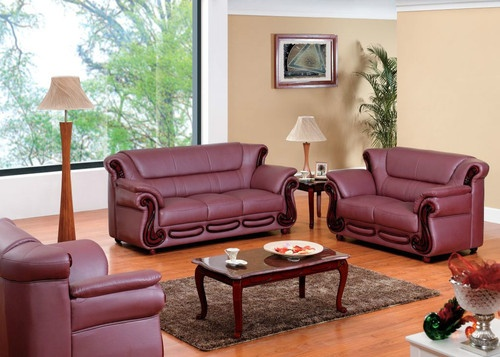 Ikea Sofa Bed  Sofa Set Contemporary Leather Burgundy Modern Living Room Look eBay