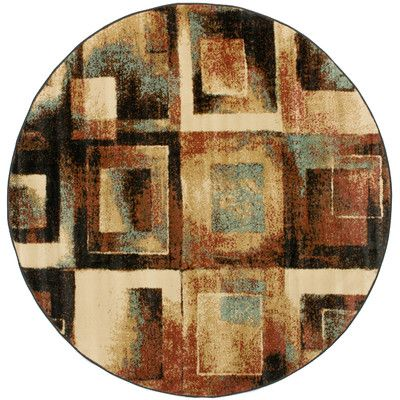 Infinity Home Barclay Union Squares Modern Area Rug Rug Size: