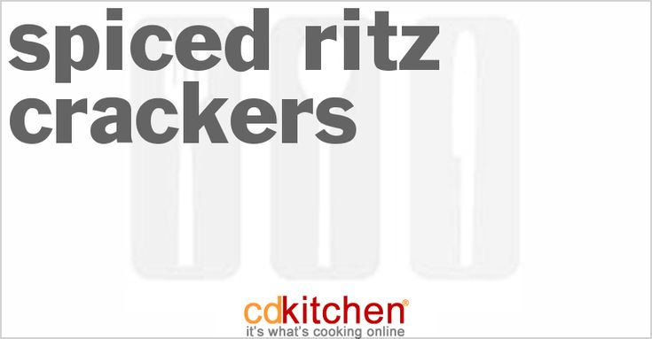 Made with Ritz crackers, dry Ranch salad dressing …