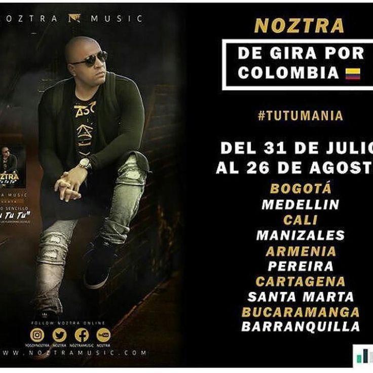 #Repost @wilmerthemanager  Para nuestro publico estaremos de Gira en nuestra querida #colombia dios por medio. @yosoynoztra @gustavolopezmusic @talento1music @corrientelatina @bmclaley #wilmerthemanager  #medellin #armenia #bucaramanga #pereira #bogota #barranquilla #cartagena #santamarta #cali #manizales #cucuta #losangeles #miami #newyork #music #new #tour #travel #dj #stage #southamerica
