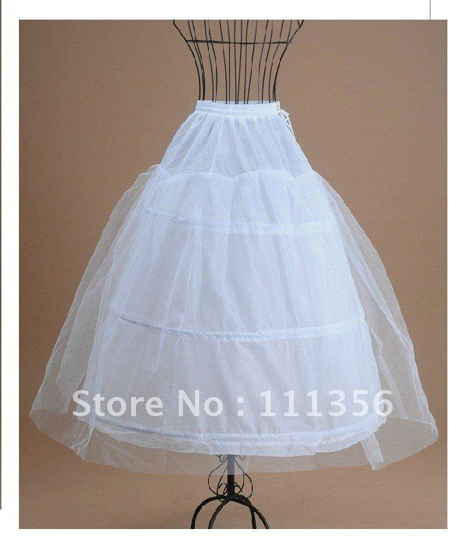 New Design 3 Hoop 1 Layer Bridal Wedding Dress Petticoat Crinoline Skirt Slip