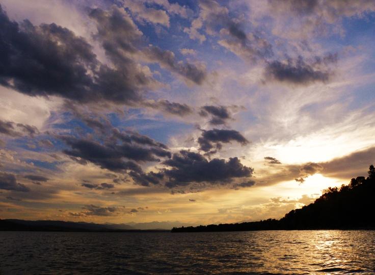 Ghost Lake sunset...  near Morley, Alberta, Canada...  photo by Brent Van Hooft