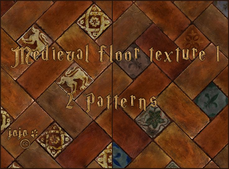 Medieval floor texture  1 (patterns) by jojo-ojoj