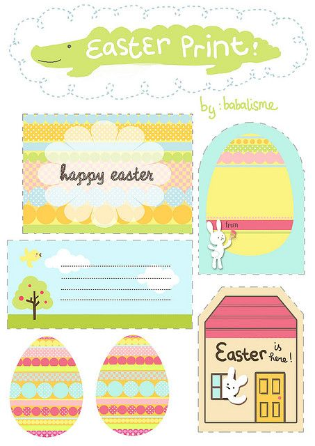 FREE printable easter gift tags / by babalisme, via Flickr