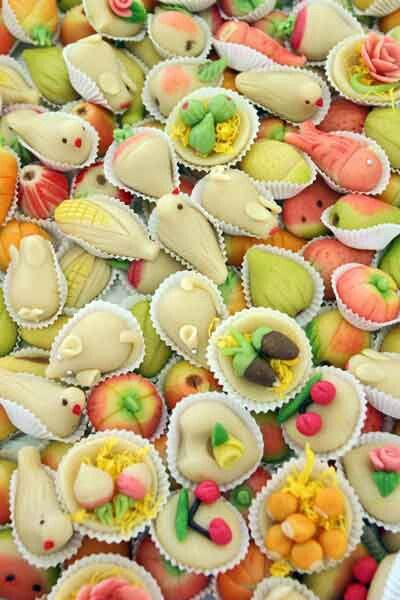 """Portuguese Delights, """"Doces do Algarve"""", made out of almonds and marzipan."""