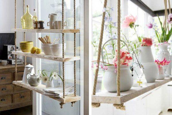 die besten 17 ideen zu seil regale auf pinterest h ngende dekorationen regale und innen shop. Black Bedroom Furniture Sets. Home Design Ideas