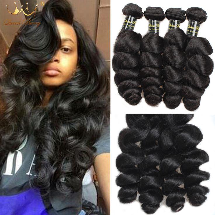 7A Mongolski Dziewiczy Włosy Luźne Fale Mongolski Loose Wave Virgin włosy 4 Bundle Deal Ludzkich Włosów Luźne Kręcone Mongolski Włosów zestawy