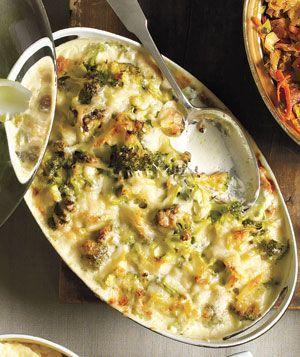 Broccoli & Gruyere Gratin (Thanksgiving Recipe)