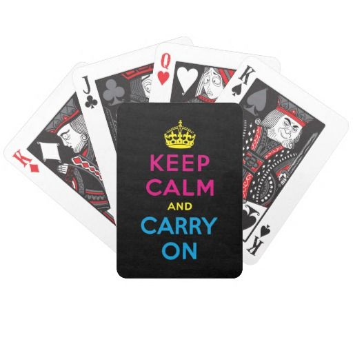CMYK keep calm and carry on Bicycle Card Deck