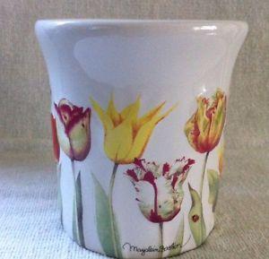 Marjolein-Bastin-Coffee-Mug-cup-Tulips-Bees-Hallmark-Natures-Sketchbook