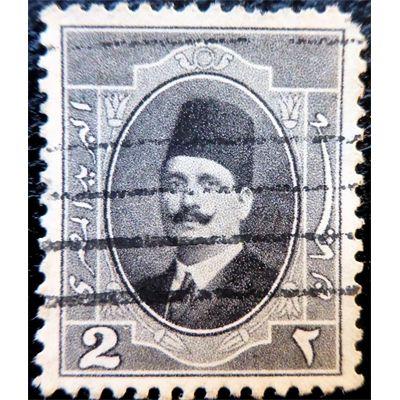 Egypte, King Fuad, 10 Miils, Arabic letters, Carmine rose, 1923 used
