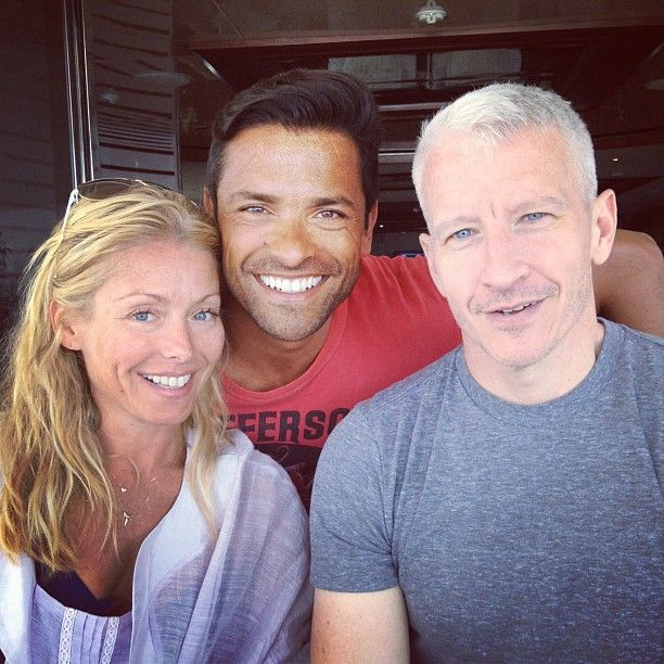 Anderson Cooper Kelly Ripa Mark Consuelos in Croatia.(After Anderson's split with boyfriend Ben.)