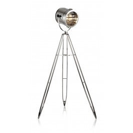This Winston floor lamp will light the stage of your home, office or Moulin rouge! This vintage inspired tripod light dominates any room, adding character and sophistication. With a modern flair, its metal chrome finish will give you that distinctive look you've been searching for. $490