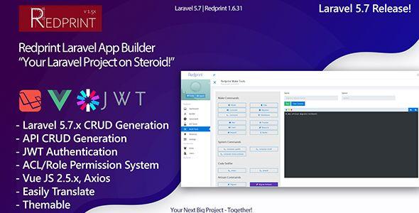 Download Free Redprint V1 6 32 Laravel App Builder Crud Generator Plus Nulled App App Development Generation