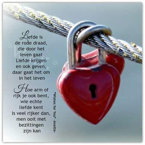 Liefde is de rode draad ...