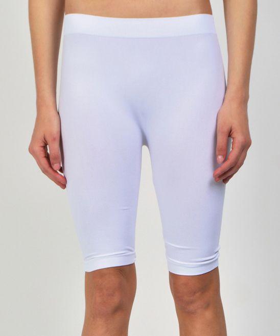 White Capri Leggings