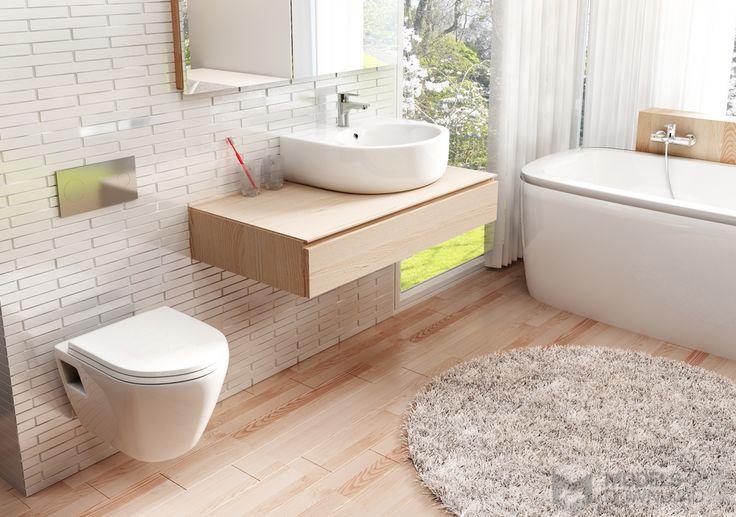 Klasyczna łazienka z drewnianymi elementemi