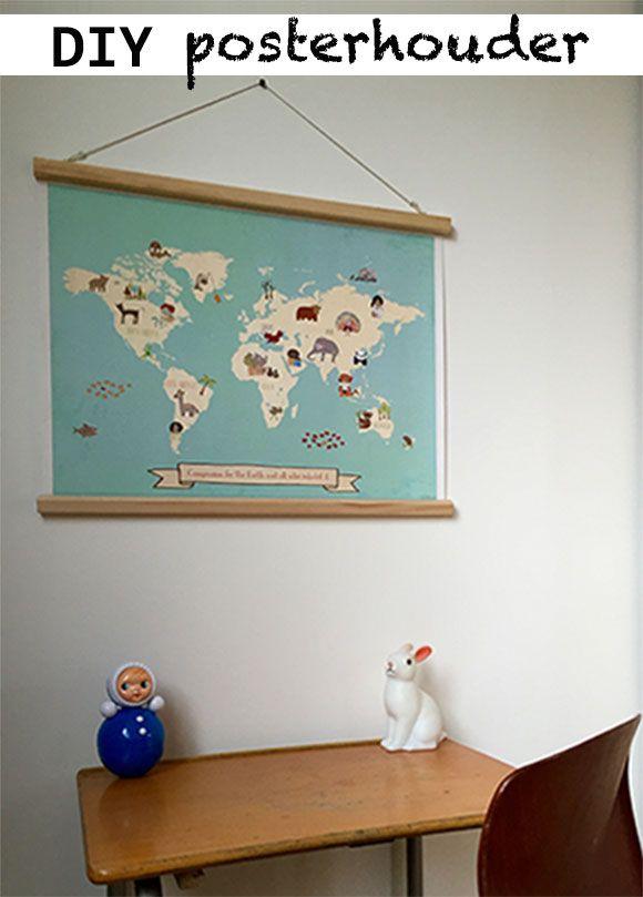 poster, posterhouder, ophangen, systeem, ophansysteem, latten, latjes, houten…