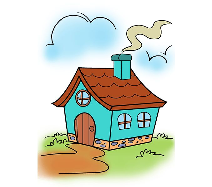 Best 25 cartoon house ideas on pinterest for How to draw a cute house