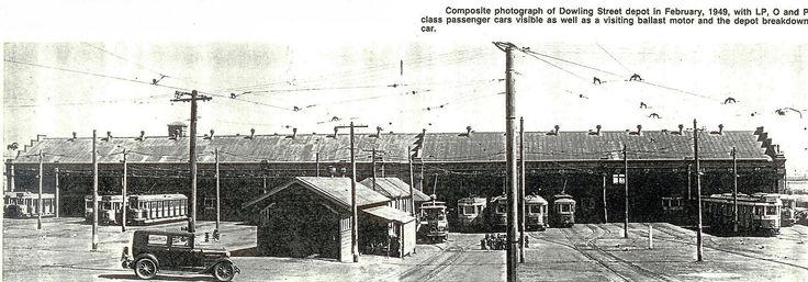 Dowling Street Tram Depot sheds.