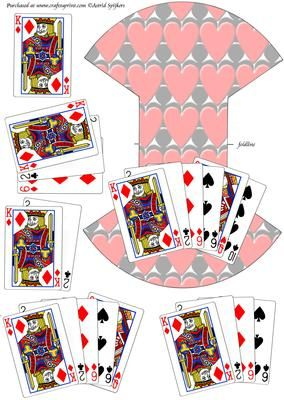 Playing cards 1 on Craftsuprint designed by Astrid Spijkers - Great for men's cards.  - Now available for download!