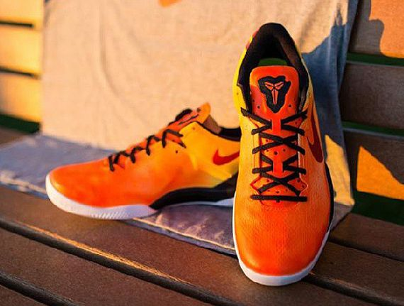 Buy Online 2015 Nike Kobe 8 Cheap sale System Spark Laser Orange