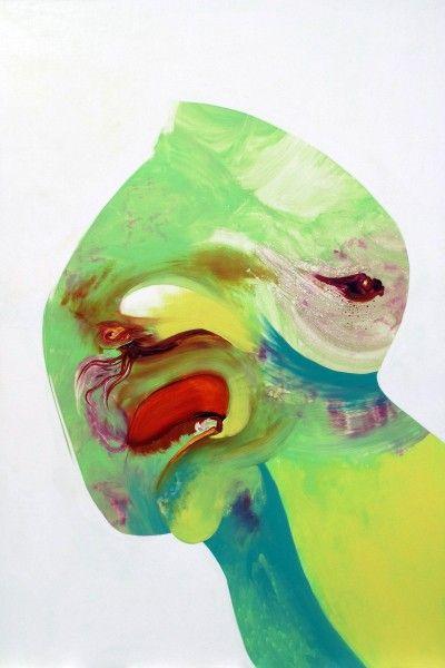 Katrine Roberts   Percolate I, 122x183cm, 2014 @laceycontemporary #katrineroberts #painters #percolate #realitydeparture #painting #contemporarypainter