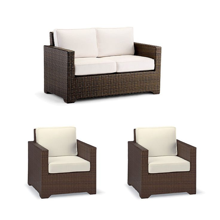 Small Palermo 3-pc. Loveseat Set in Bronze Finish   – Products