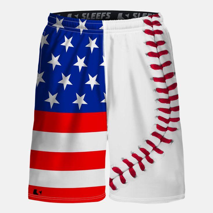 Baseball Lace USA shorts