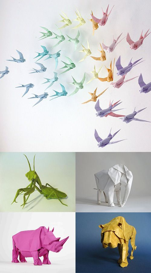 Animales e insectos Origami