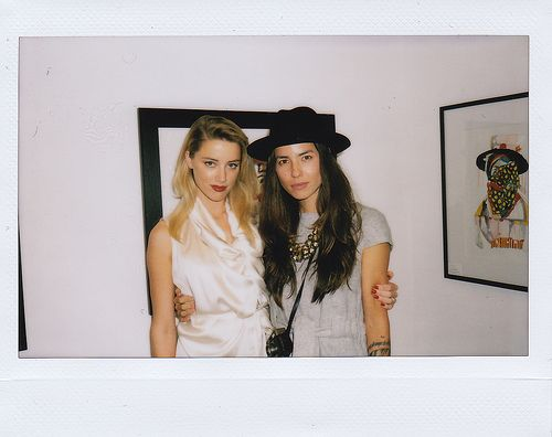 amber heard and her girlfriend, photographer tasya van ree. what a fashionable couple.