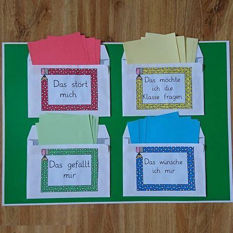 Um sich auf die Unterrichtsstunde vorzubereiten, können die Kinder die ganze Woche mit den Dingen schreiben, die sie besetzen. Diese werden dann in den Klassenraum des Unterrichts geworfen und in der Unterrichtsstunde besprochen. Danke an die Papierfuchslehrer für die Idee
