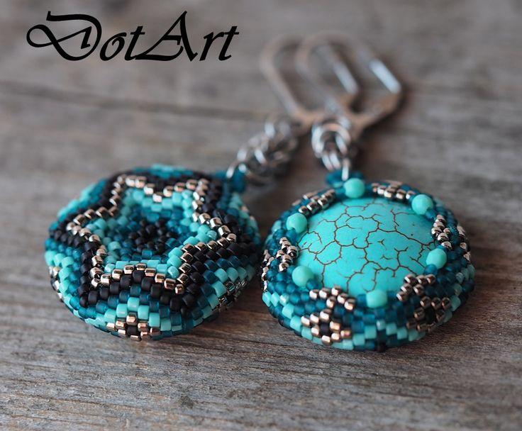 Dorota Walentyn- Goral, #DotArt, #earrings, #beading, #toho, #peyote, #chainmaille,  #stainless steel, #polandhandmade, polandhandmade.pl