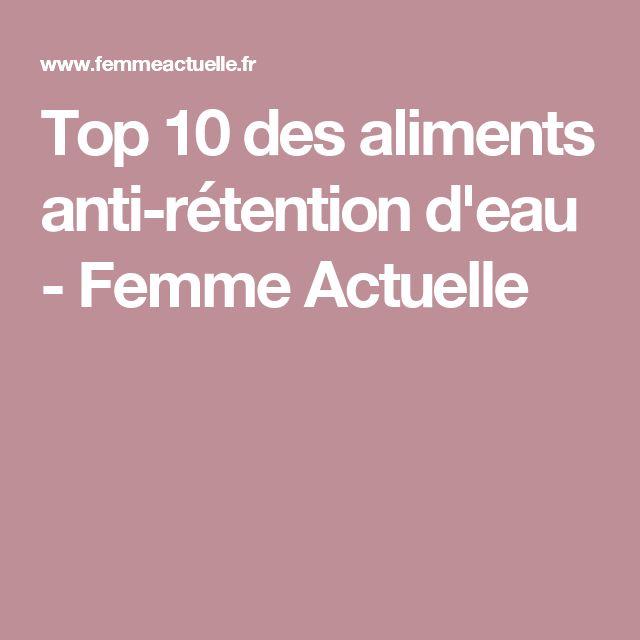 Top 10 des aliments anti-rétention d'eau - Femme Actuelle