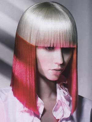color blocking hair silver-pink-color-blocked-hair