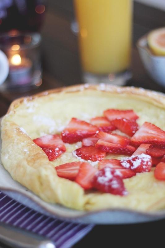 Puffed pancake recipe food