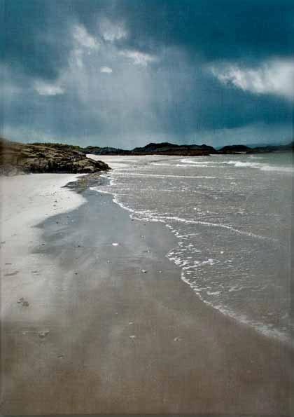 Blank greetings /notecard  Scottish Beach Seascape by PaperSnapdragon, Camusdarach Beach, Arisaig. £2.00