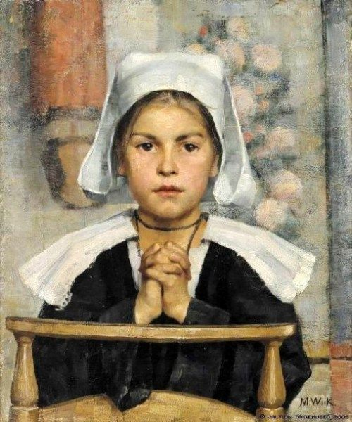 """At The Church"" - Maria Wiik (1853 – 1928, Finnish)"