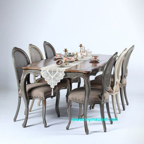 Louis Big Dinning Table Set 6 Chairs