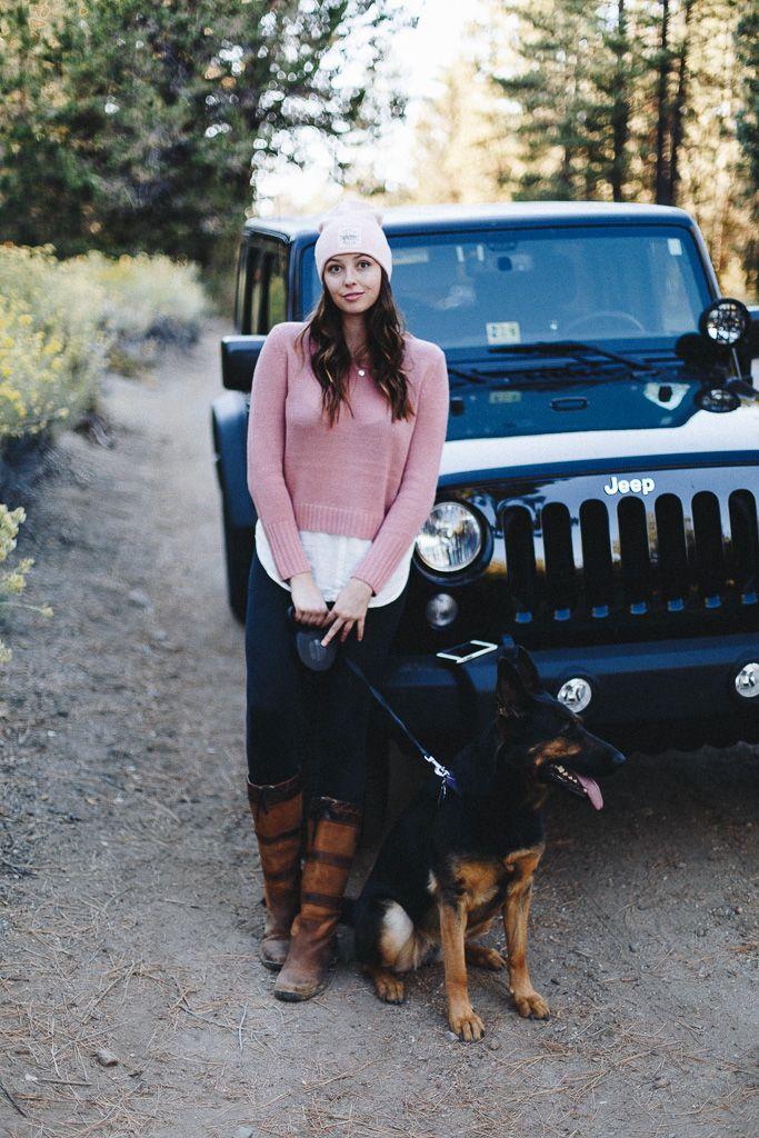 Jeep Love + german shepherd + cute outfit
