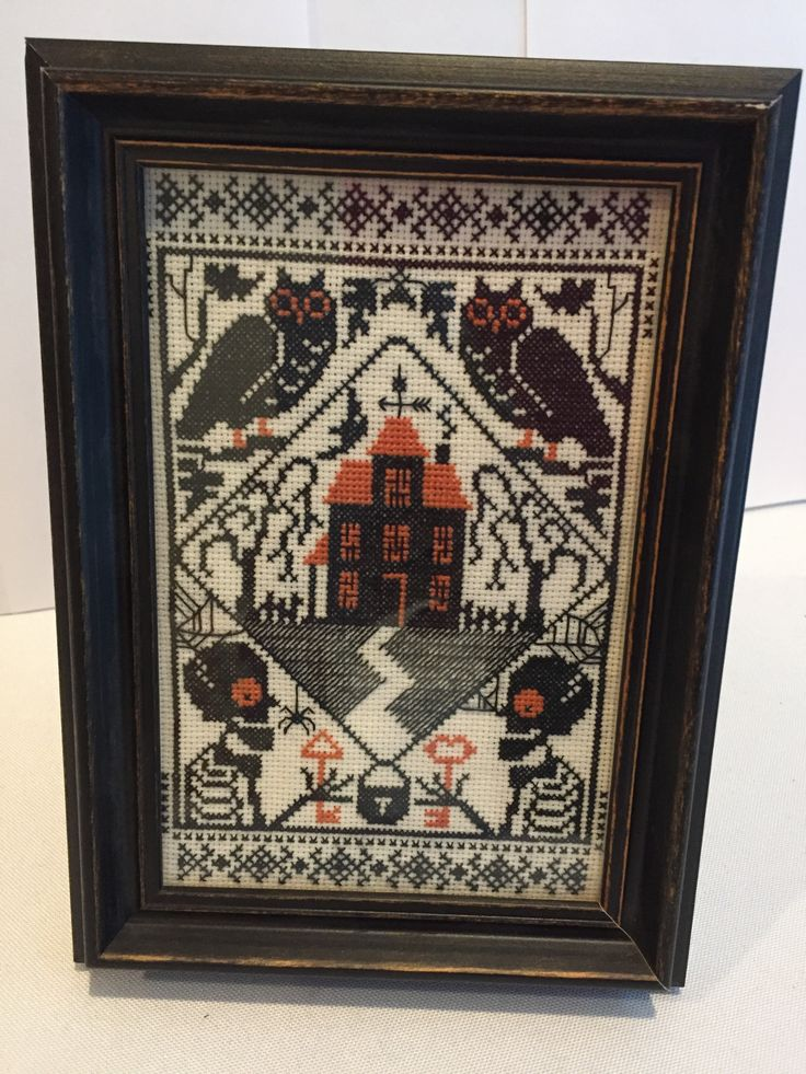 Haunted House A Vintage Halloween Cross Stitch Vintage